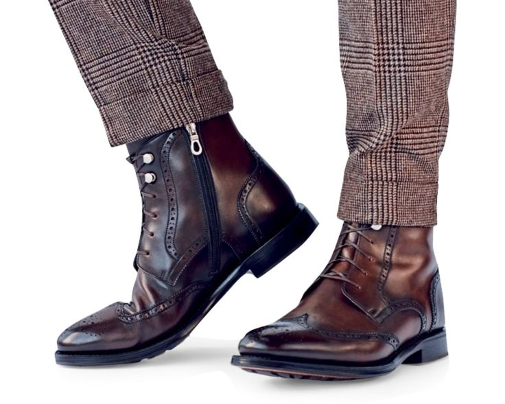 These might be the first pair of men's wingtip boots I've seen with a zipper...I'm digging it.