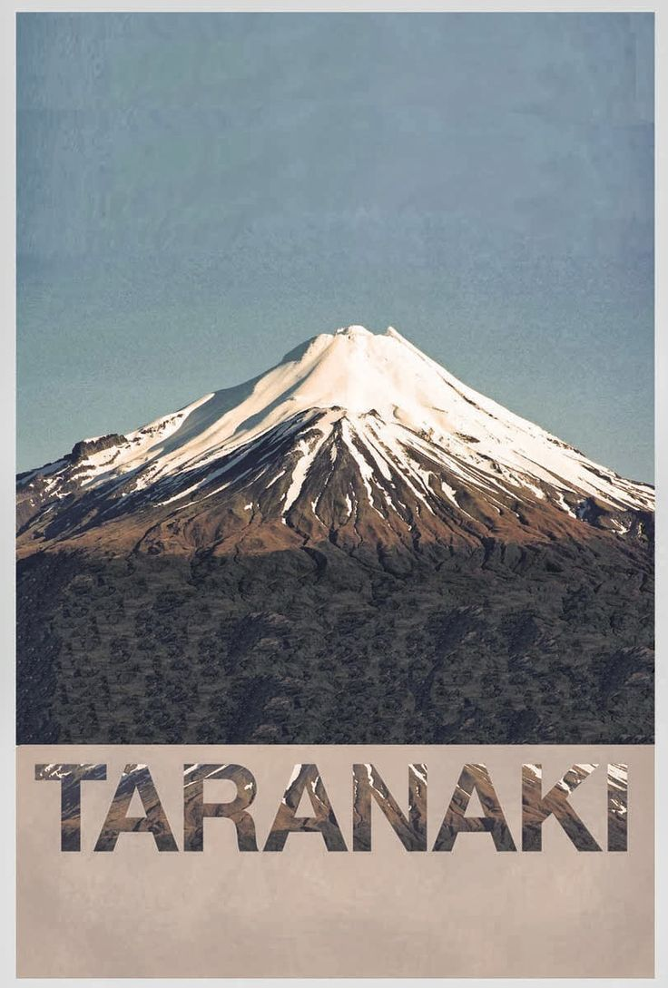 East and Sixty Eight | Retro / Vintage Taranaki Poster, New Zealand Poster Design