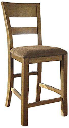 Ashley Furniture Signature Design Krinden Upholstered Barstool Light Brown Set of 2