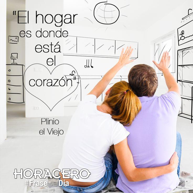 """""""El hogar es donde está el corazón"""" Plinio el Viejo #Frases #FraseDelDía"""