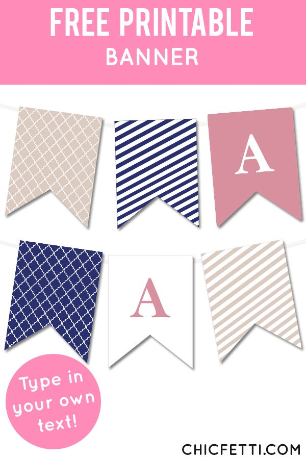 quatrefoil and striped bunting banner