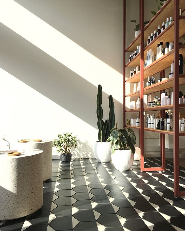 Beams Of Light Across Our Cement Hex Clip Tile Highlighting This Striking Installation Th In 2020 Cement Tiles Kitchen Patterned Tile Backsplash Patterned Floor Tiles