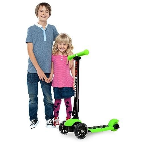 Kids Scooter 3 Wheel Kick Scooters Flashing Wheels Adjustable Height Outdoor Toy #psdiscount