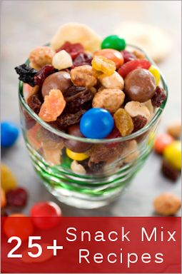 Awesome... 25+ Snack Mixes & Munchies For Casual Entertaining ~ here are over two dozen tasty recipes that are a hit for movie nights, children's parties, tailgating and casual entertaining…some sweet, some spicy and all crunchy…lots to choose from! These are great for gift-giving…simply package in jars, boxes or bags, add a bit of decorative ribbon and label.