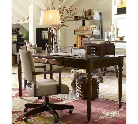 Printer 39 s writing desk pottery barn need to paint this white home rae 39 s office - Pottery barn office desk ...