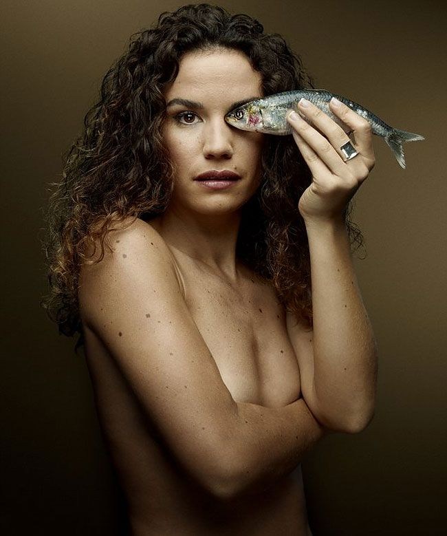 Barbara Caprita shot by Denis Rouvre for Fish Love, a Provocative Photography…