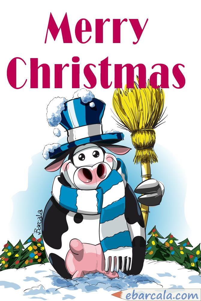 #Merry Christmas and a #happy new year. Cows enjoy Christmas!