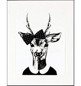 Home affaire gerahmter Kunstdruck »Reh-Frau in Spaziergang-Kleidung«, 33/43 cm Jetzt bestellen unter: https://moebel.ladendirekt.de/dekoration/bilder-und-rahmen/poster/?uid=caca6afc-6e89-5855-acc5-4b8996f7e174&utm_source=pinterest&utm_medium=pin&utm_campaign=boards #bilder #rahmen #poster #dekoration