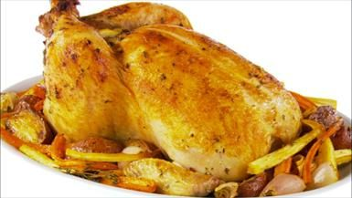 Garlic-Roasted Chicken and Root Vegetables Recipe : Giada De Laurentiis : Food