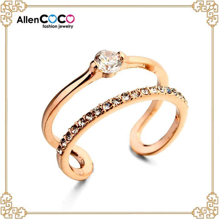 Ручной работы мужские кольца с 18 К позолоченные рог из CZ кольцо с бриллиантом турция золотые украшения