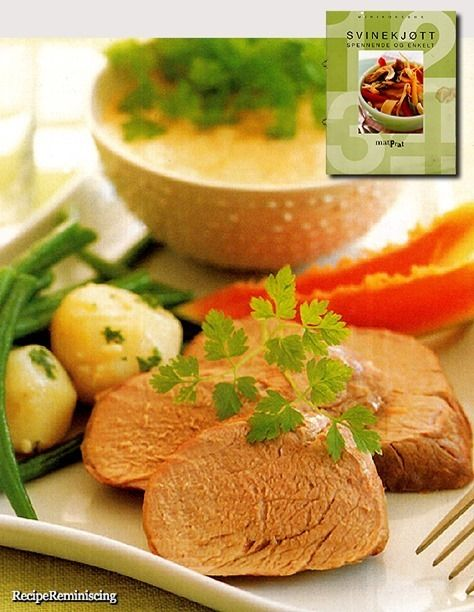 Roast Pork Tenderloin with Tropical Sauce / Helstekt Svinefilet med Tropisk Saus