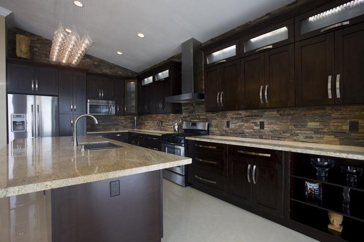 My Dream Kitchen Fashionandstylepolice: My Dream Kitchen Come True :) Slate Stone Backsplash