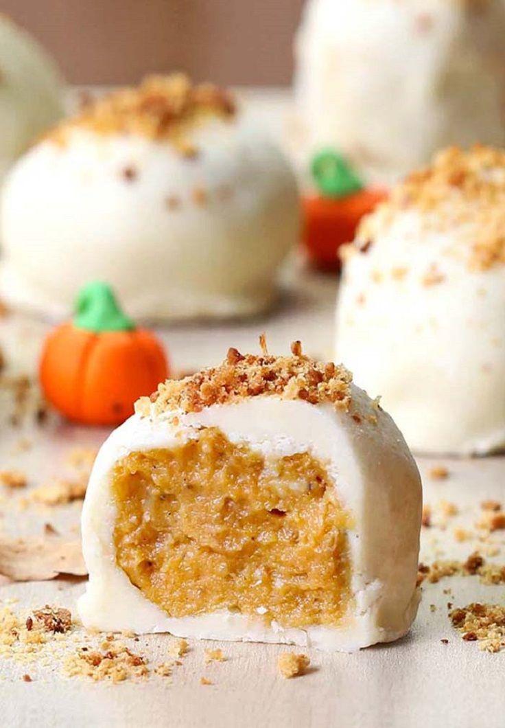 Pumpkin Cheesecake Balls - Thanksgiving Food List: 15 Creative Food Ideas for A Fabulous Thanksgiving Feast