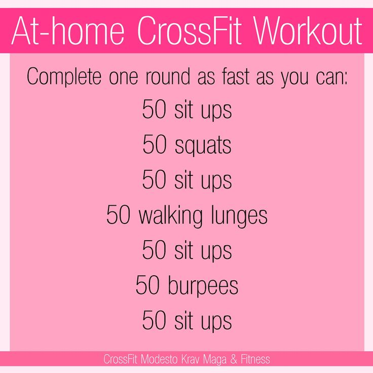 Can't make it to the gym? Do a CrossFit workout at your house! Or anywhere you…