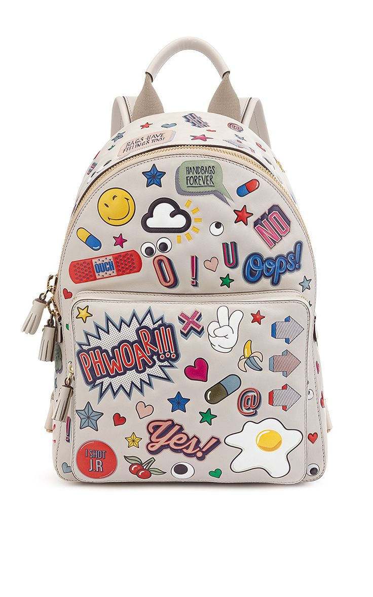 Mini All Over Wink Backpack  by ANYA HINDMARCH for Fall 2016