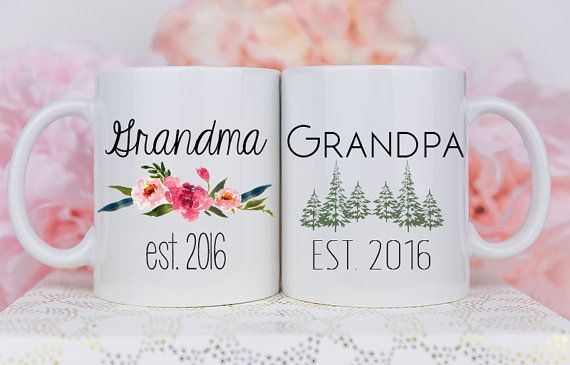 Grandparent Mugs Pregnancy Reveal To Grandparents by Mugsby