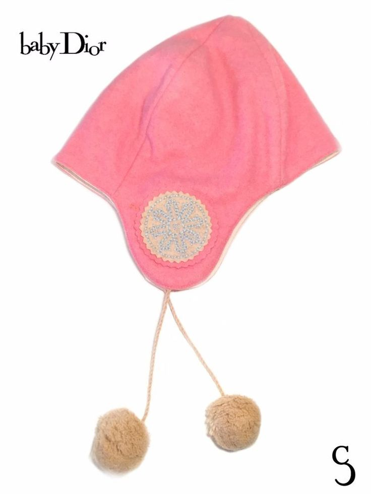 Amazing Christian Baby Dior Pink Wool Cap _ Size: 18M #BabyDior