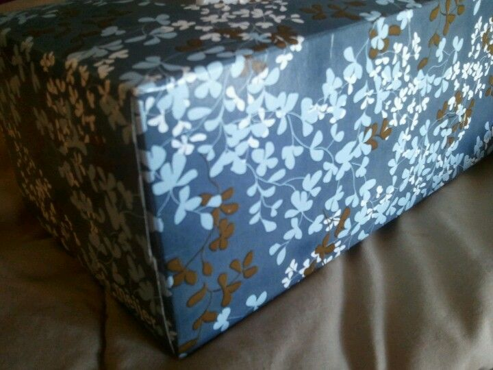 Tissue box inspiration for master bedroom: light blue for walls, dark blue for nightstands, white bedding & wood floors & bed frame