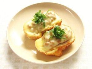 納豆チーズ梅じそカナッペ
