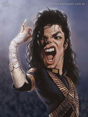 La caricatura de Michael Jackson