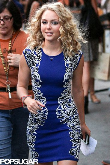 """AnnaSophia Robb was on the set of """"The Carrie Diaries"""" in NYC on July 24,2013"""