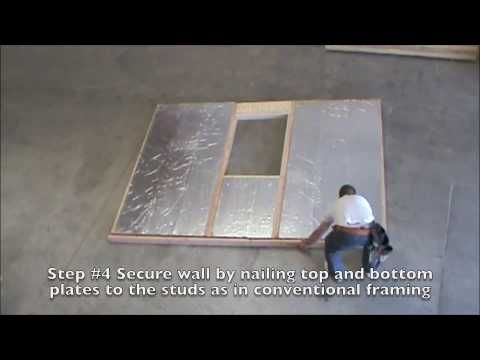 Sips wall framing quick and easy how to with raycore for Diy structural insulated panels