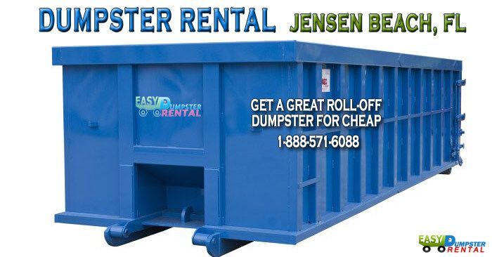 Jensen Beach, FL at EasyDumpsterRental Dumpster Rental in Jensen Beach, FL Get a Great Roll-off dumpster for Cheap How We Serve Jensen Beach With Efficient, Low-cost Waste Disposal: The best refuse management company is Easy Dumpster Rental, whether you are a homeowner or a professional business, we will find the right dumpster for... https://easydumpsterrental.com/florida/dumpster-rental-jensen-beach-fl/