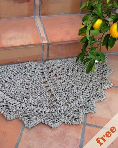 T Shirt Rag Rug Tutorial: 232 Best Images About Crochet Rugs On Pinterest