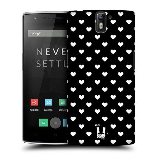 Amazon.com: Head Case Designs Hearts Black and White Pattern Protective Snap-on Hard Back Case Cover for OnePlus One: Cell Phones & Accessories