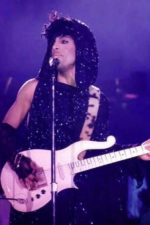 """Purple Rain Tour 1985 wearing his """"Purple Rain"""" finale outfit."""