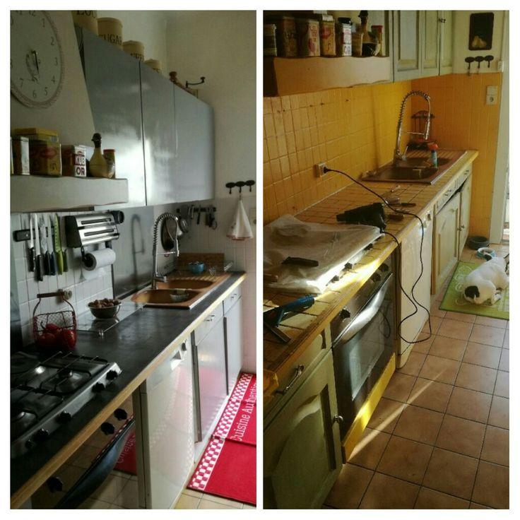 """DIY """"l'après-avant de ma petite cuisine"""""""