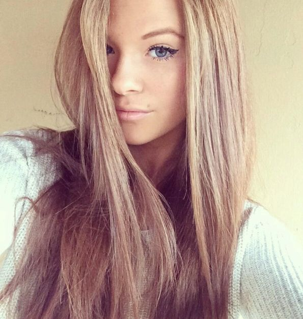Sandy hair. Very pretty for people who are blonde or could pull off blonde!