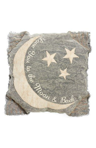 "Free shipping and returns on PRIMITIVES BY KATHY 'Moon & Back' Pillow at Nordstrom.com. Add a charming touch to your décor with this shabby-chic pillow featuring the heartwarming sentiment, ""Love you to the moon and back."""