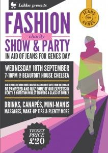 London Mothers Club (LoMoC), the premier events club for mums in London, will host a charity Fashion Show and party in aid of Jeans for Genes Day