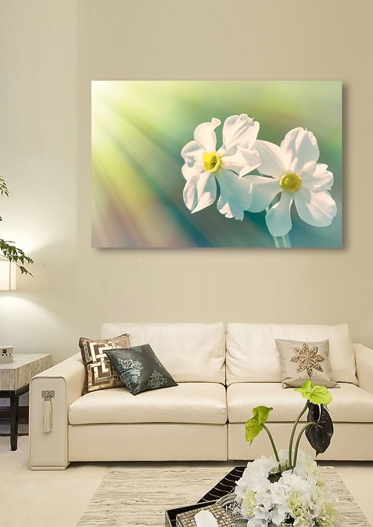 Art Print featuring the photograph Spring Daffodils by Larysa Koryakina. Available in many sizes and in Acrylic, Metal, Canvas, Framed, Wood and Standard Print. Photography Art design for Office and Home Decor.