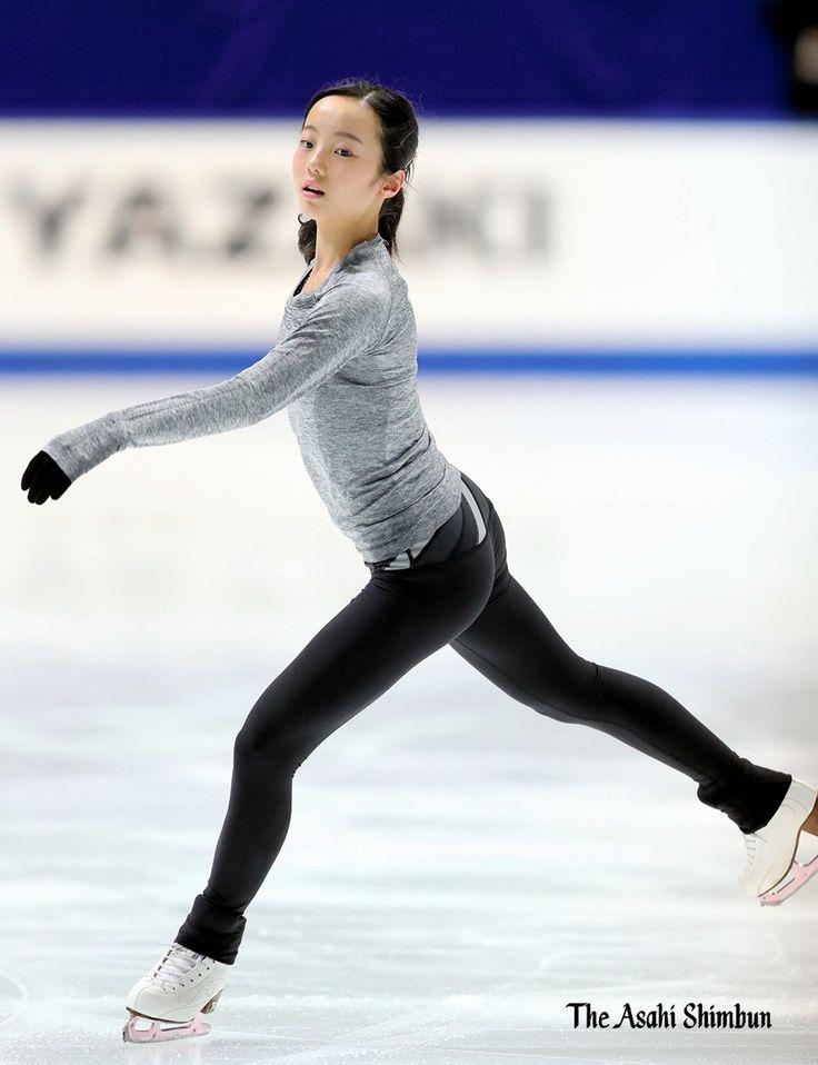 #フィギュアスケート全日本選手権。#本田真凜選手 の公式練習です。細川卓カメラマンの撮影です。(く) #フィギュアスケート #本田真凜