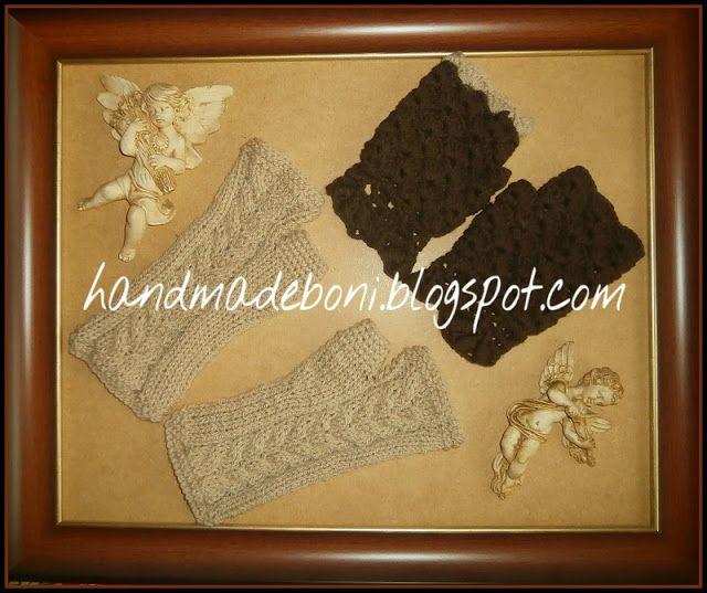 HandmadeBoni: Mitenki na drutach i szydełku - zrób razem ze mną ...