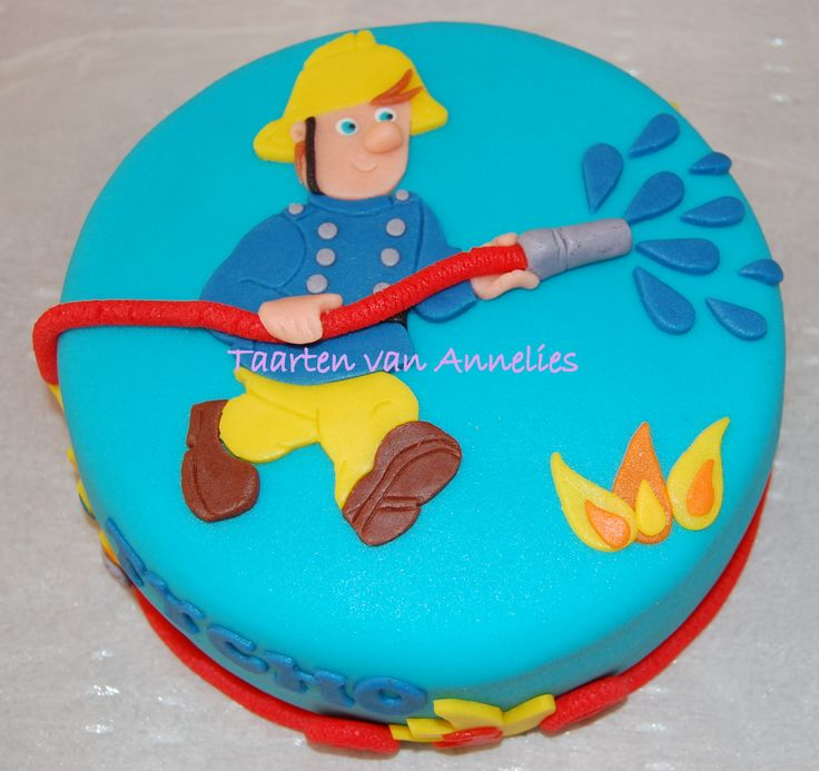 Brandweerman Sam taart!