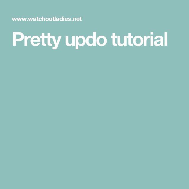 Pretty updo tutorial
