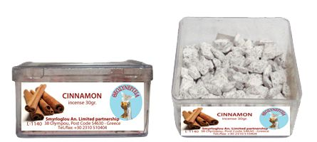 Greek Orthodox Handmade Incense - Cinammon. Plastic box of 30gr.