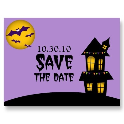 Halloween Wedding Save The Date Postcard 1 30 Per Card Gothic
