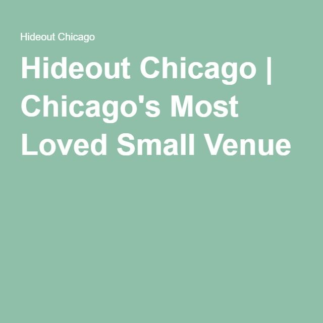 Hideout Chicago | Chicago's Most Loved Small Venue
