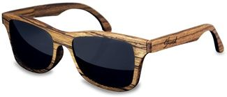 Wooden sunglasses. Made from real zebrawood, these are the best sunglasses I've ever owned. The only accessory I've ever had that's truly a conversation-starter every time I go out.