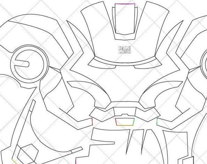 Iron Man Mark 42 Helmet A4 & Letter Size PDF Template