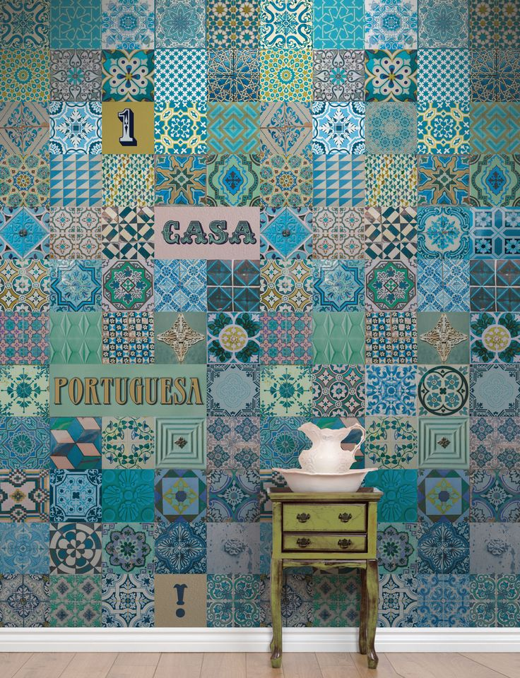 Azulejo Português Azul (Portuguese Tile Blue)
