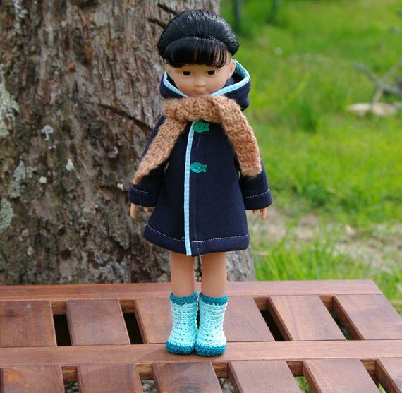 vêtements manteau écharpe chaussures pour poupée type les Chéries de Corolle 32/33 cm