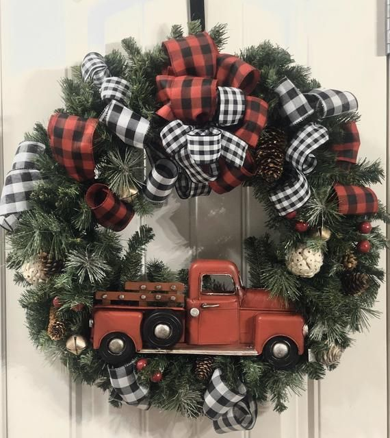 16+ Black and white buffalo plaid christmas wreath information