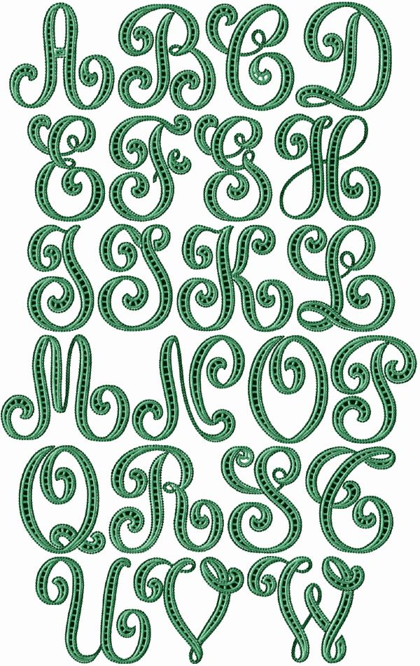 Lafayette Cutwork Font machine embroidery designs