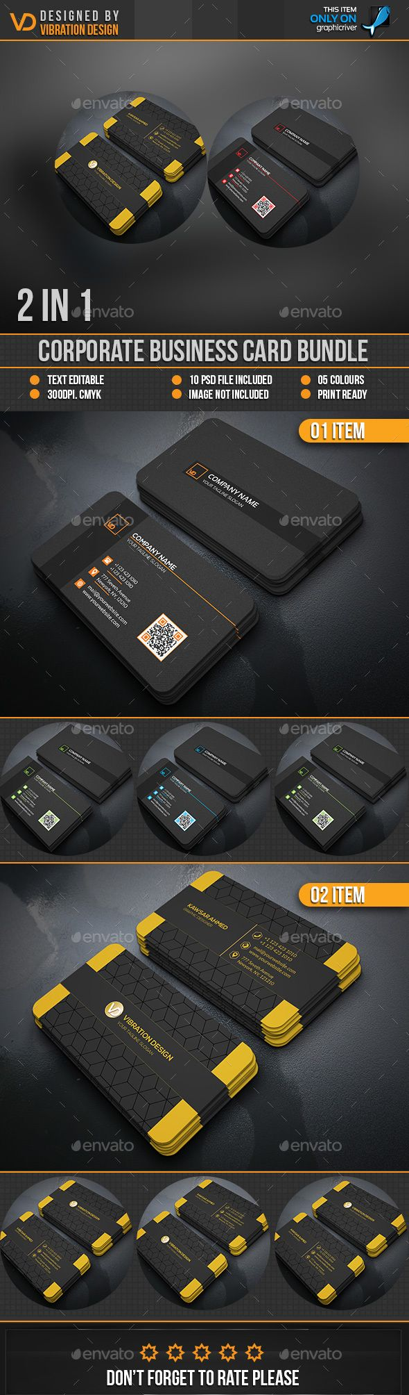 Business Card Bundle Templates PSD. Download here: http://graphicriver.net/item/business-card-bundle/16120359?ref=ksioks