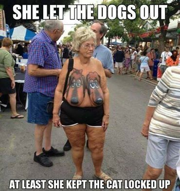 WTF! ... why did she have to let the dogs out?